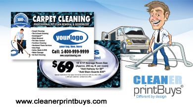 Carpet Cleaning Business Cards C0007 UV Gloss