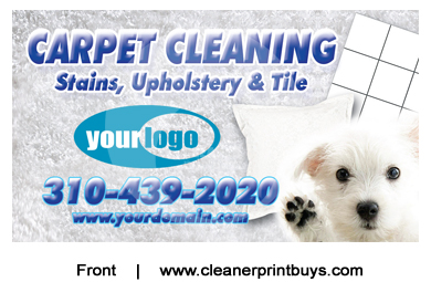 Carpet Cleaning Business Cards C0005 UV Gloss
