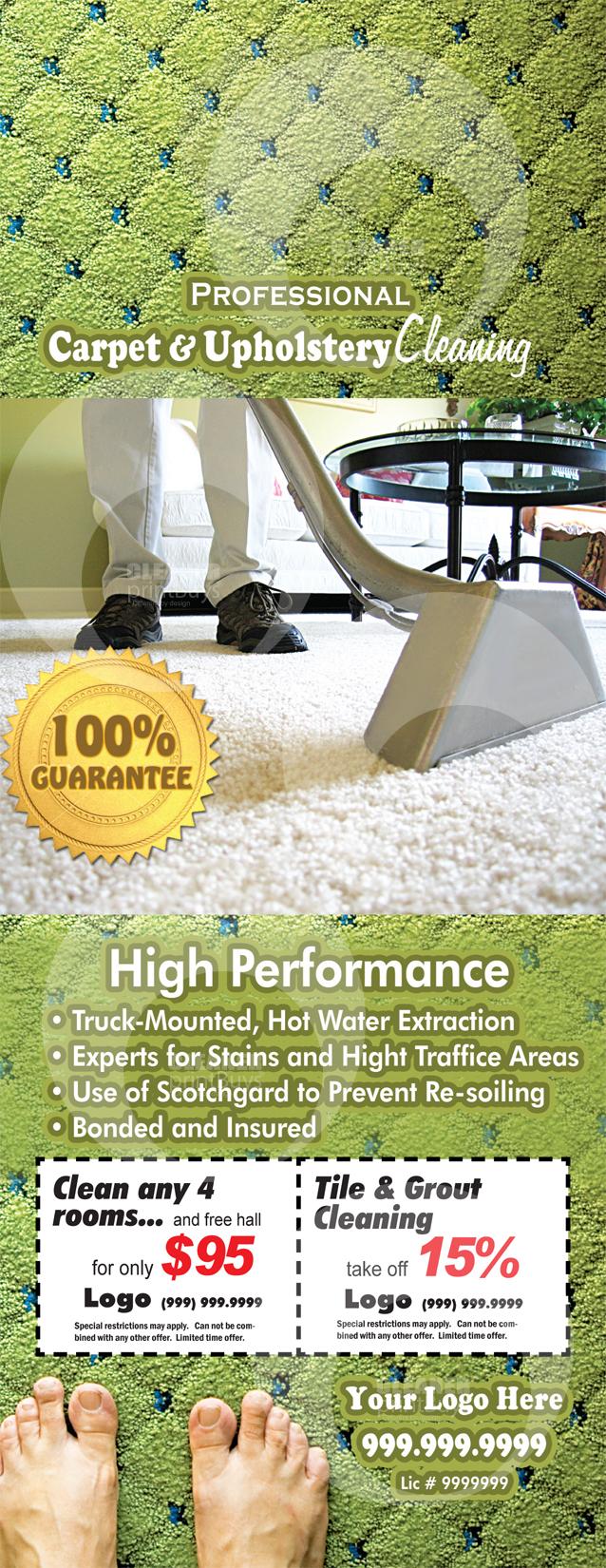 Carpet Cleaning Door Hangers C0002 FRONT VIEW