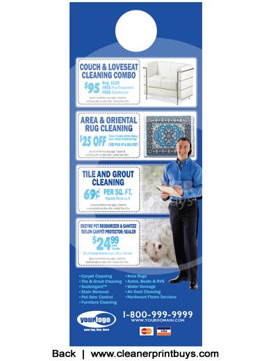 Carpet Cleaning Door Hangers 4 25 X 11 C0008 Aq Gloss