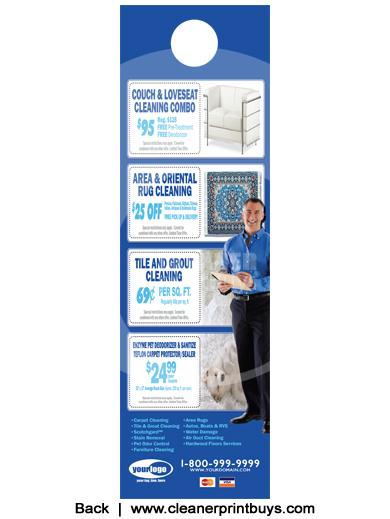 Carpet Cleaning Door Hanger 4 25 X 14 C0008 Uv Gloss