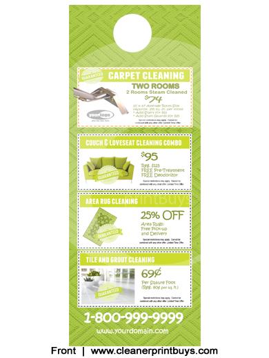 Carpet Cleaning Door Hangers 4 25 X 11 C1005 Aq Gloss
