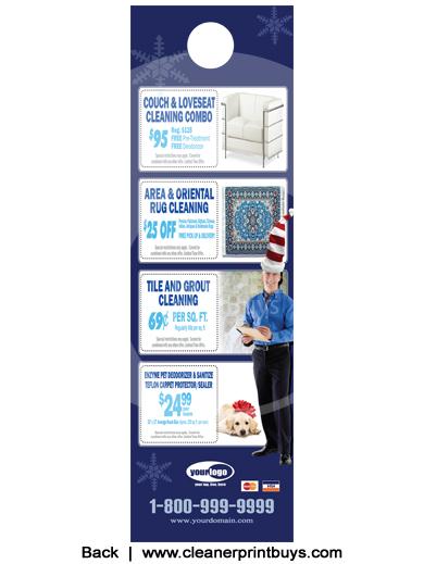 Carpet Cleaning Door Hanger 4 25 X 14 C2001 Aq Gloss