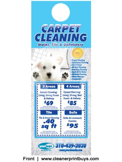 Carpet Cleaning Flyers | Door Hangers | Postcards | Business Cards