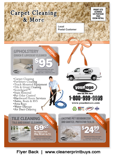 Carpet Cleaning Holiday Eddm Postcard 6 5 X 9 C1024