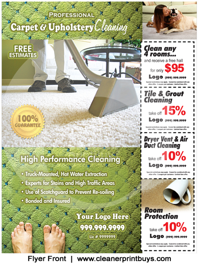Carpet Cleaning Flyer 85 X 11 C0002
