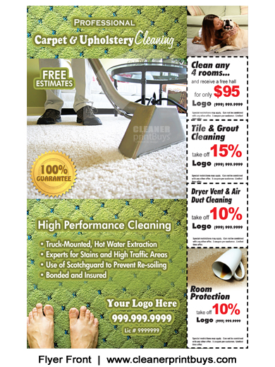 Carpet Cleaning Flyer (8.5 x 5.5) #C0002