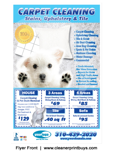 Carpet Cleaning Flyer (8.5 x 5.5) #C0005