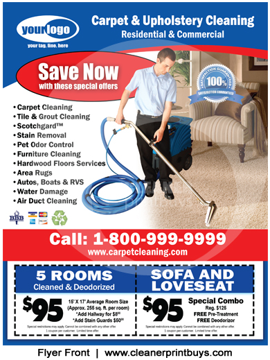 Upholstery Cleaning Flyer Template - Ready In 24Hrs - Carpet