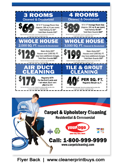 Carpet Cleaning Flyer (8.5 x 5.5) #C0006