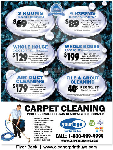 Carpet Cleaning Flyer (8.5 x 11) #C0007