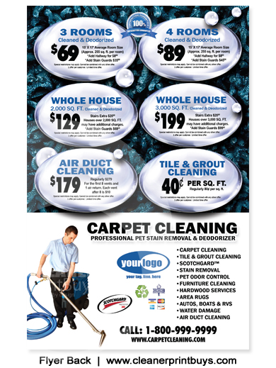 Carpet Cleaning Flyer (8.5 x 5.5) #C0007
