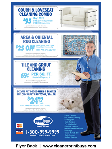 Carpet Cleaning Flyer 8 5 X 5 5 C0008