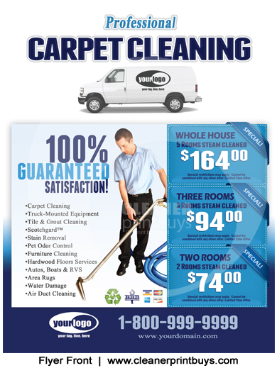 Carpet Cleaning Flyer 8 5 X 11 C1001