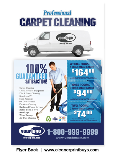 Carpet Cleaning Flyer 8 5 X 5 5 C1001