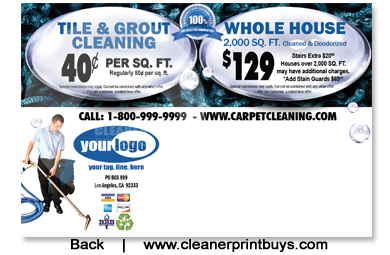 Carpet Cleaning Postcard 4 X 6 C0007 Uv Gloss