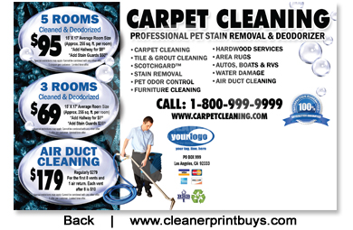 Carpet Cleaning Postcard 8 5 X 5 5 C0007 Uv Gloss