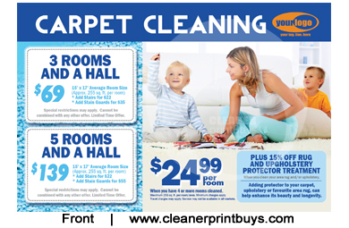 Carpet Cleaning Postcards Ideas