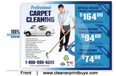 Carpet Cleaning Postcard 8 5 X 5 5 C1001 Matte
