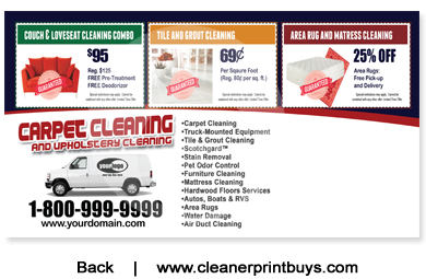 Carpet Cleaning Postcard 6 X 11 C1010 Uv Gloss