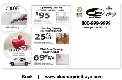 Carpet Cleaning Postcard 6 X 11 C1076 Uv Gloss