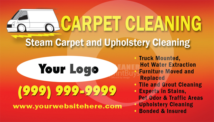 Carpet Cleaning Business Cards Templates