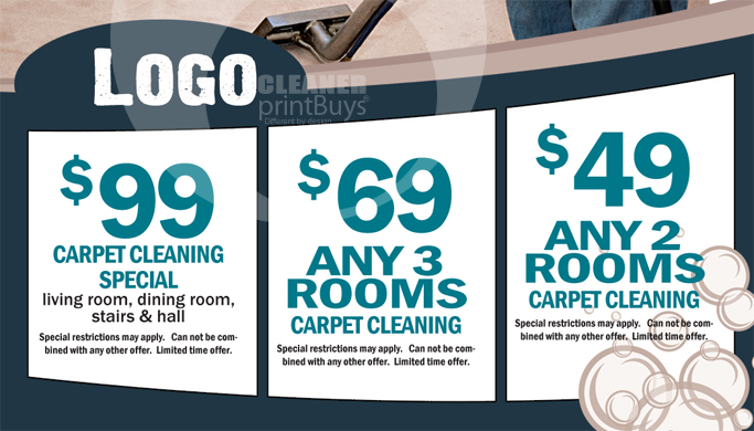 carpet cleaning business cards  c0004  back view