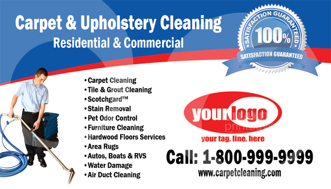 Carpet Cleaning Business Cards C0006 FRONT VIEW
