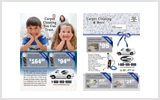 Carpet Cleaning EDDM Postcard Template # C1021 6.5 x 9