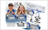 Carpet Cleaning EDDM Postcard Template # C1021 8.5 x 11