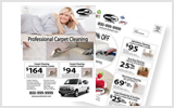 Carpet Cleaning EDDM Postcard Template # C1075 8.5 x 11