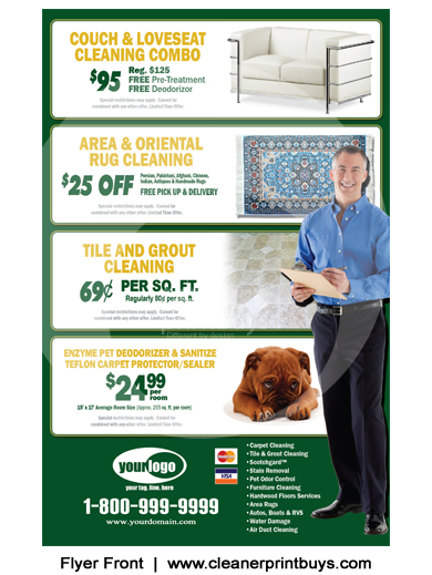 Carpet Cleaning Flyer 8 5 X 5 5 C1002